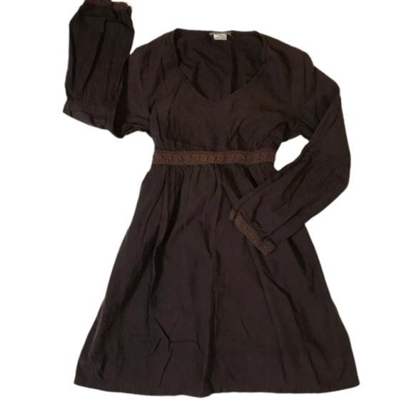 Tommy Bahama Dresses & Skirts - Tommy Bahama Dark Brown 100% Cotton Dress Sz M